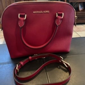 Authentic red leather  MK